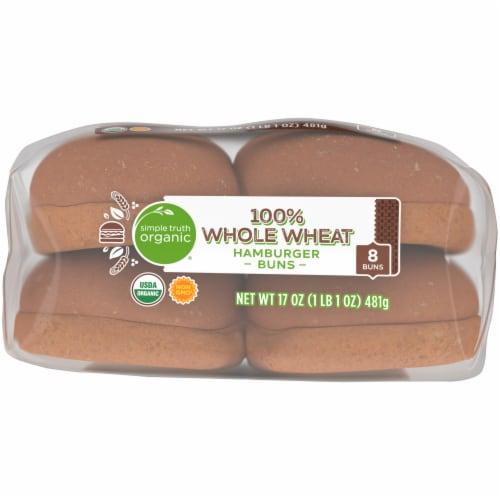 Simple Truth Organic® 100% Whole Wheat Hamburger Buns Perspective: bottom