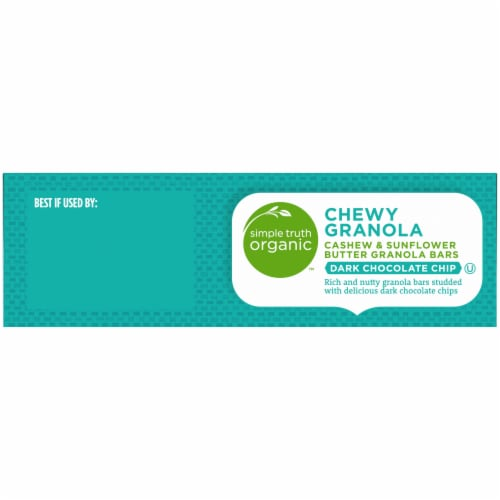 Simple Truth Organic™ Dark Chocolate Chip Cashew & Sunflower Butter Chewy Granola Bars Perspective: bottom