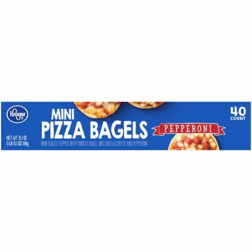 Kroger® Pepperoni Mini Pizza Bagels Perspective: bottom