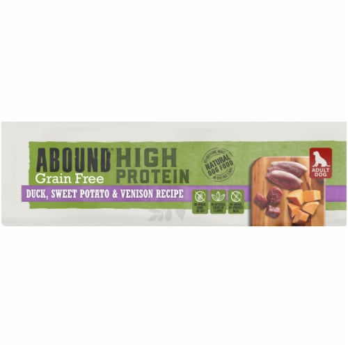 Abound® Grain Free High Protein Duck Sweet Potato & Venison Recipe Dog Food Perspective: bottom