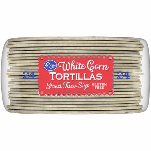 Kroger® Street Taco Size White Corn Tortillas Perspective: bottom