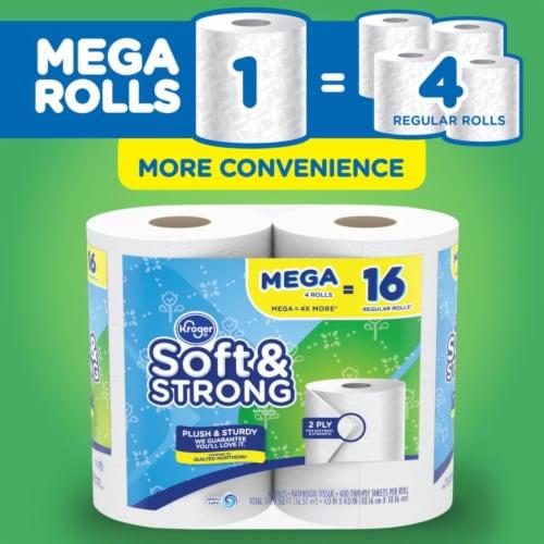 Kroger® Soft & Strong Mega Roll Bathroom Tissue Perspective: bottom