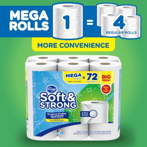 Kroger® Soft & Strong Bathroom Tissue Perspective: bottom