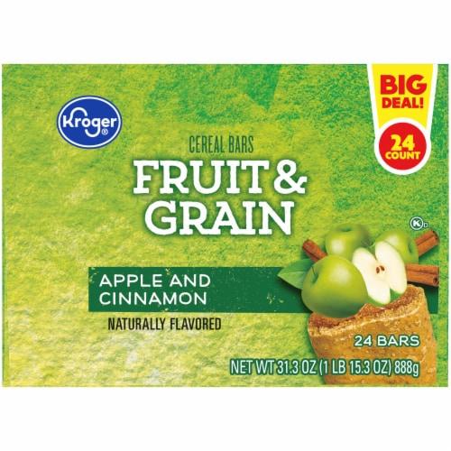 Kroger® Fruit & Grain Apple and Cinnamon Cereal Bars Perspective: bottom