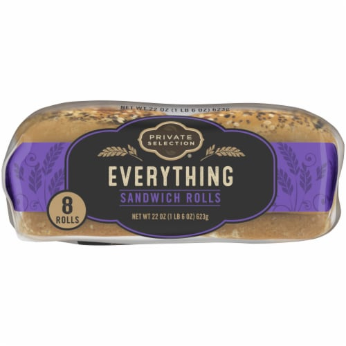 Private Selection® Everything Sandwich Rolls Perspective: bottom