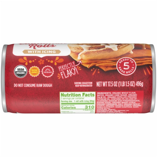 Simple Truth Organic Ready To Bake Jumbo Cinnamon Roll Perspective: bottom
