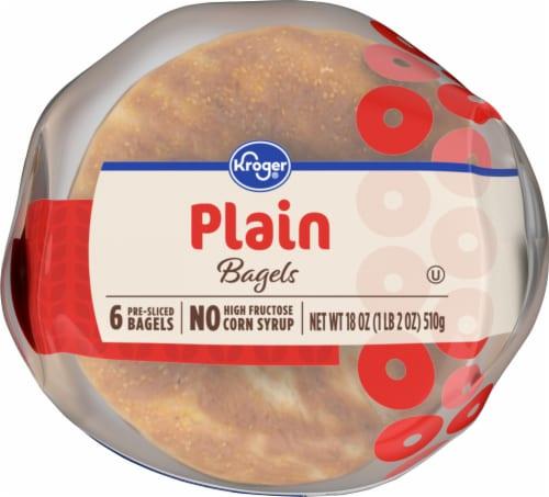 Kroger® Plain Pre-Sliced Bagels Perspective: bottom