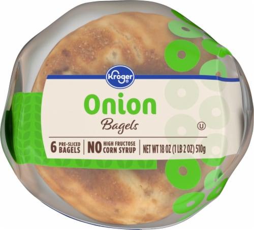 Kroger® Onion Pre-Sliced Bagels Perspective: bottom