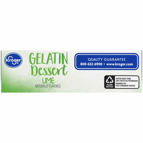 Kroger® Lime Gelatin Dessert Mix Perspective: bottom
