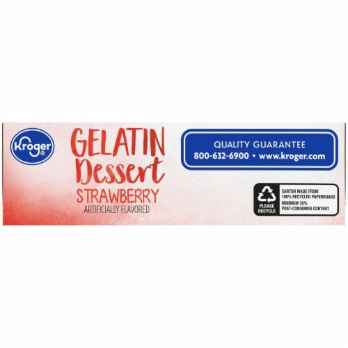 Kroger® Strawberry Gelatin Dessert Mix Perspective: bottom