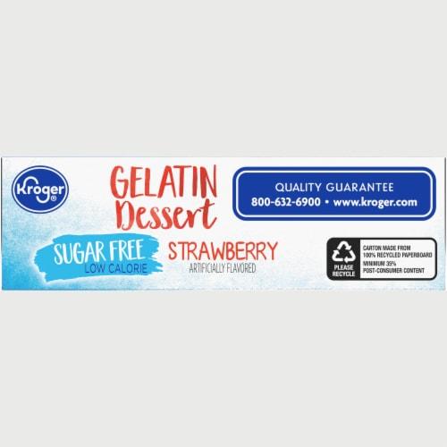 Kroger® Sugar Free Strawberry Gelatin Dessert Mix Perspective: bottom