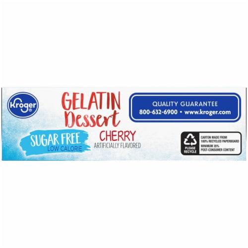 Kroger® Sugar Free Cherry Gelatin Dessert Mix Perspective: bottom