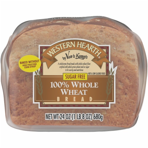 Western Hearth® Sugar Free Wide Pan 100% Whole Wheat Bread Perspective: bottom