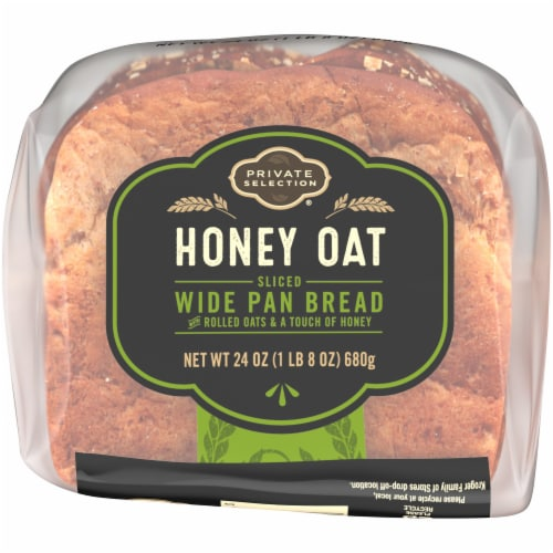 Private Selection® Honey Oat Sliced Wide Pan Bread Perspective: bottom