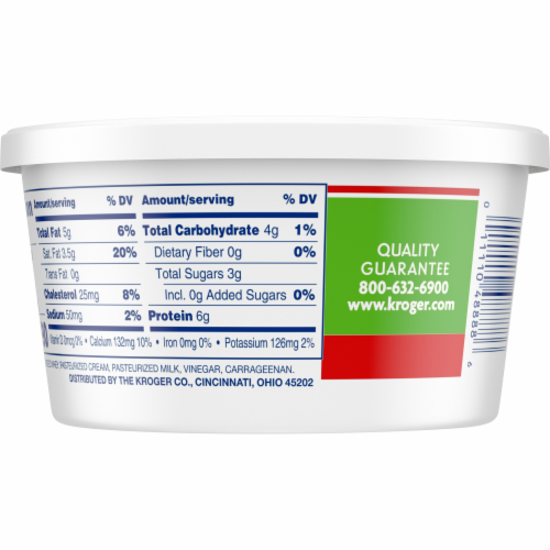 Kroger®  Whole Milk Ricotta Cheese Tub Perspective: bottom