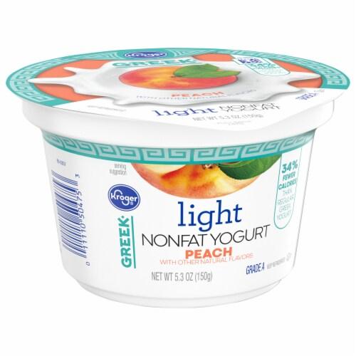 Kroger® Peach Light Nonfat Greek Yogurt Perspective: bottom