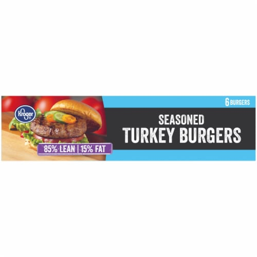 Kroger® 85% Lean Seasoned Turkey Burgers Perspective: bottom