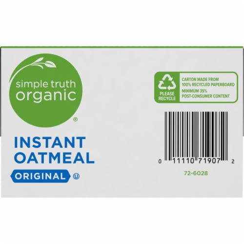 Simple Truth Organic® Original Instant Oatmeal Perspective: bottom