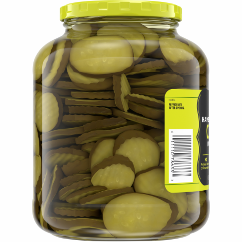 Kroger® Oval Cut Hamburger Dill Pickle Chips Perspective: bottom