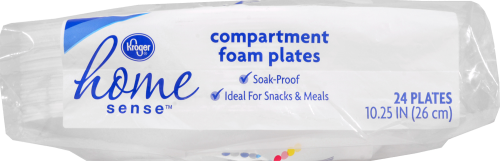 Kroger® 10.25-Inch Compartment Foam Plates Perspective: bottom