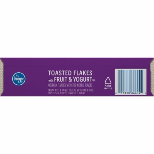 Kroger® Whole Grain Toasted Flakes with Fruits & Yogurt Cereal Perspective: bottom