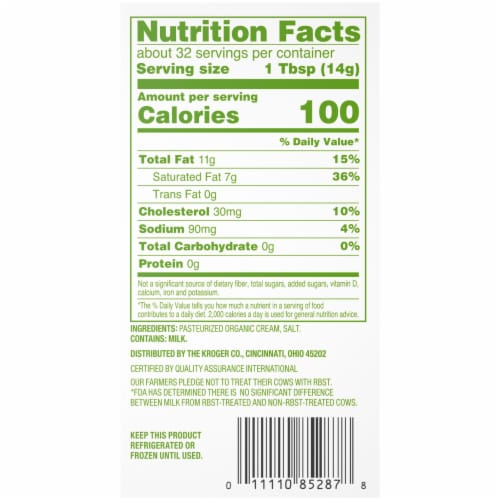 Simple Truth Organic™ Salted Butter Perspective: bottom