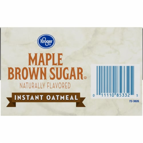Kroger® Maple & Brown Sugar Instant Oatmeal Perspective: bottom
