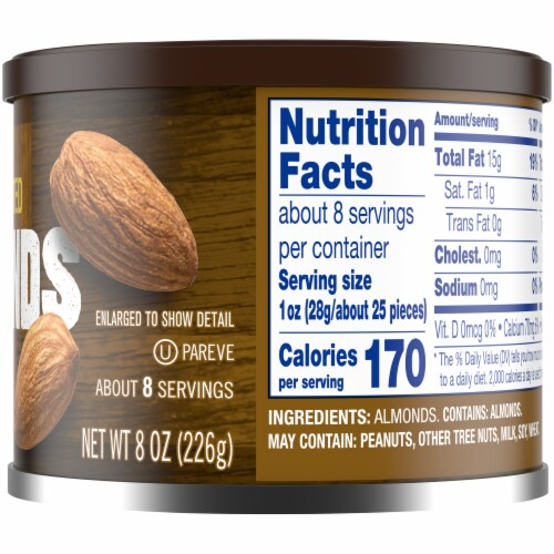 Kroger® Unsalted Dry Roasted Almonds Perspective: bottom