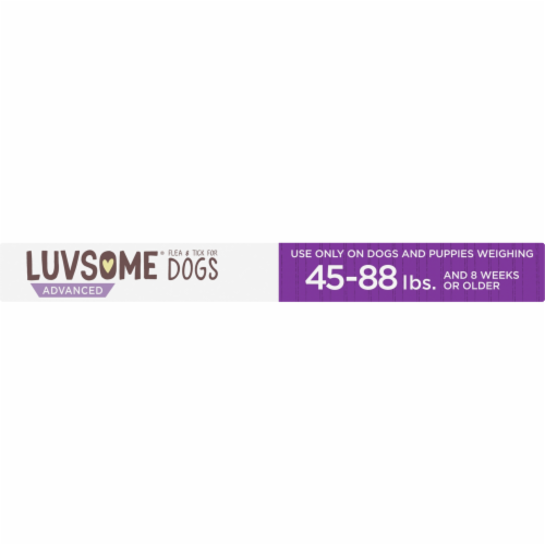 Luvsome® Advanced Flea & Tick Applicators for Dogs and Puppies Perspective: bottom