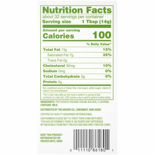 Simple Truth Organic™ Unsalted Butter Perspective: bottom
