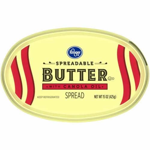 Kroger® Spreadable Butter with Canola Oil Perspective: bottom
