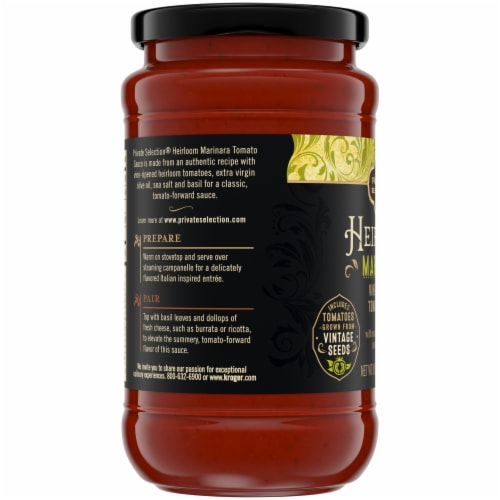 Private Selection® Heirloom Marinara Vine-Ripened Tomato Sauce Perspective: bottom
