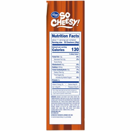Kroger® So Cheesy! Reduced Fat Baked Cheese Bits Crackers Perspective: bottom