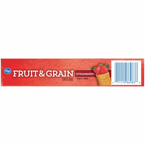 Kroger® Fruit & Grain Strawberry Cereal Bars Perspective: bottom