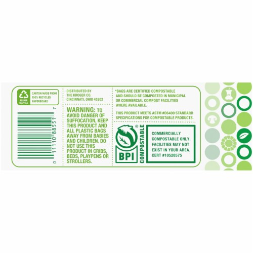 Simple Truth™ Small 2.6 Gallon Compostable Kitchen Trash Bags Perspective: bottom