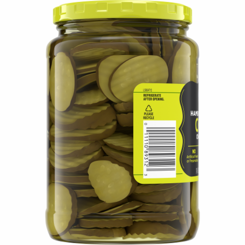 Kroger® Hamburger Dill Oval Cut Pickle Chips Perspective: bottom