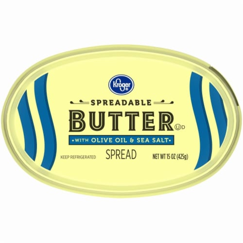 Kroger® Spreadable Butter with Olive Oil & Sea Salt Perspective: bottom