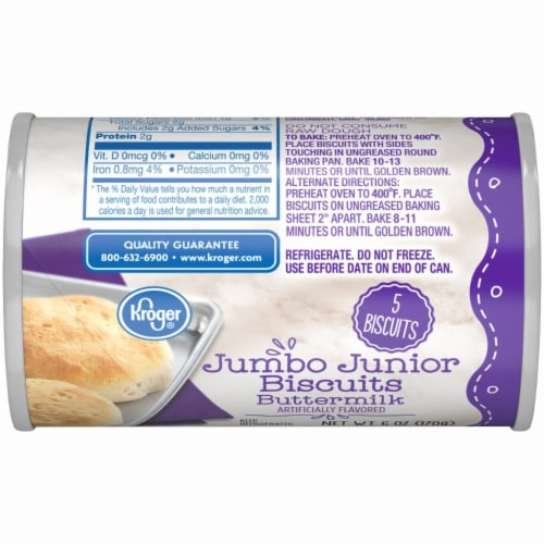 Kroger® Buttermilk Jumbo Junior Biscuits Perspective: bottom