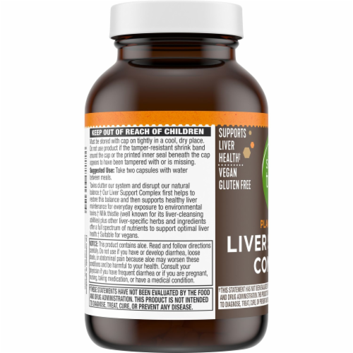 Simple Truth™ Plant Based Liver Support Complex Capsules Perspective: bottom