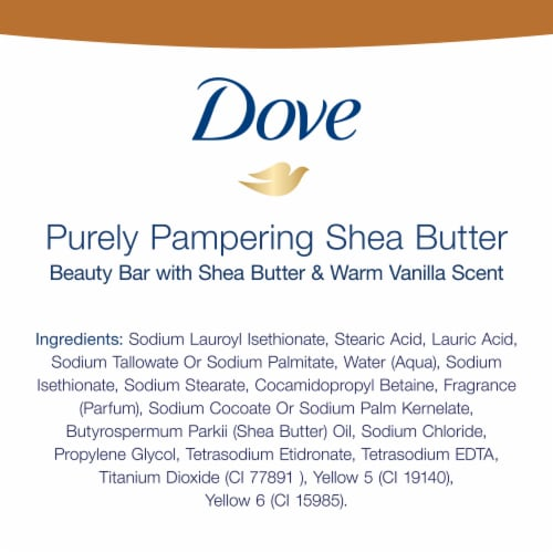 Dove Purely Pampering Shea Butter Bath Bars Perspective: bottom