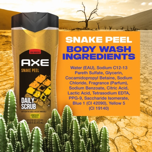 Axe Clean + Fresh Snake Peel 2 in 1 Exfoliating Body & Face Wash Perspective: bottom
