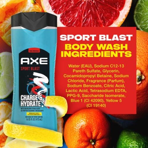 AXE Men Sports Blast Energizing Citrus Body Wash Perspective: bottom