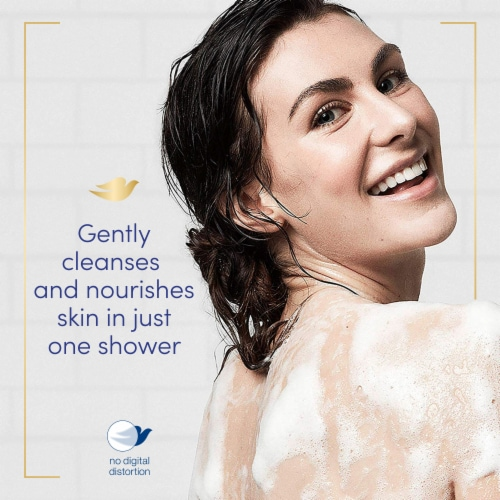 Dove Sensitive Skin Nourishing Body Wash Perspective: bottom