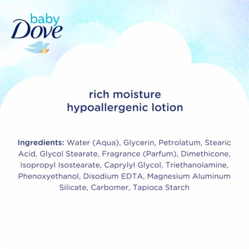 Baby Dove Rich Moisture Hypoallergenic Lotion Perspective: bottom