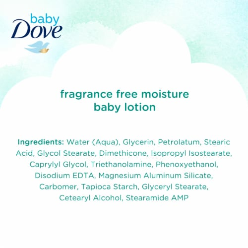 Dove Baby Sensitive Fragrance Free Moisture Lotion Perspective: bottom