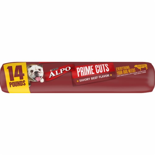 ALPO Prime Cuts Savory Beef Flavor Adult Dry Dog Food Perspective: bottom