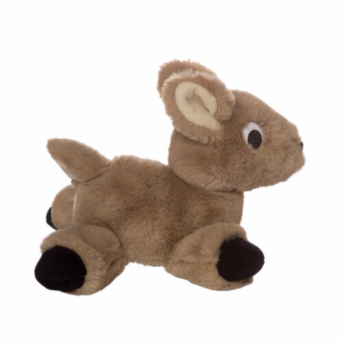 """Manhattan Toy Floppies 7"""" Baby Fawn Plush Toy Perspective: bottom"""