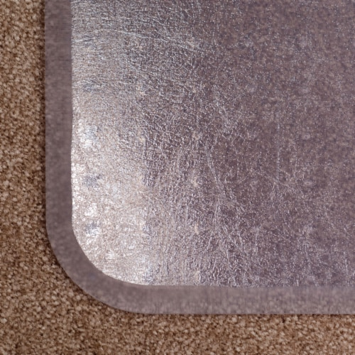 ES Robbins 46 Inch x 60 Inch Everlife Carpet Chair Mat for 3/4 Inch Thick Carpet Perspective: bottom