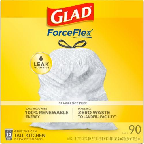 Glad® Guaranteed Strong™ Tall 13 Gallon Kitchen Drawstring Trash Bags Perspective: bottom