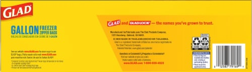 Glad® Flex'nseal Gallon Freezer Storage Bags Perspective: bottom